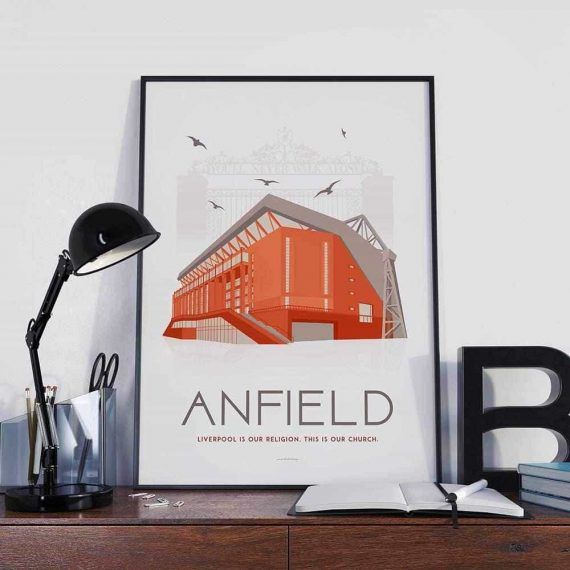Anfield – Liverpool – Art deco poster – 30×40