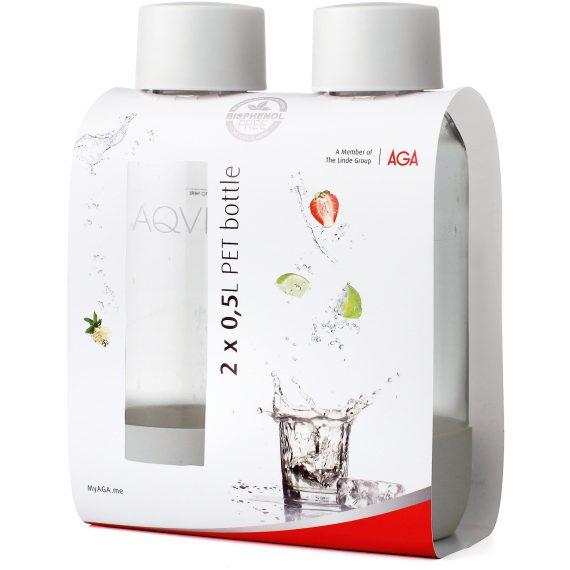 Aqvia Aga PET Flaska 0,5L Duopack Vit