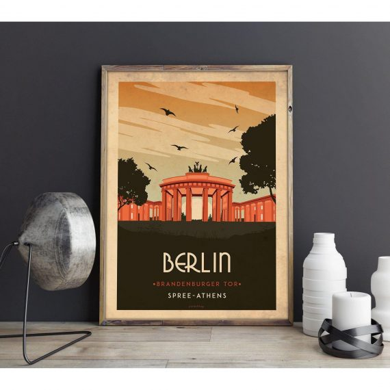 Art deco – Berlin – World collection poster – A4