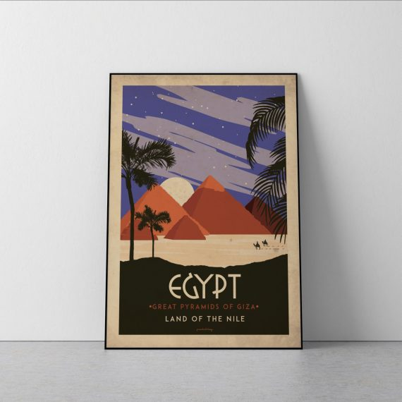 Art deco – Egypt – World collection poster – 40×50
