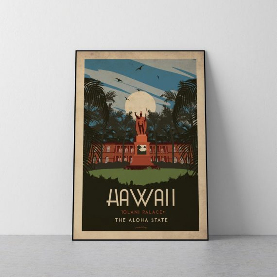 Art deco – Hawaii – World collection poster – 50×70