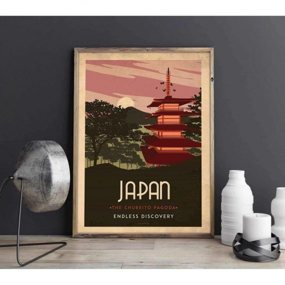 Art deco – Japan – World collection poster – 40×50
