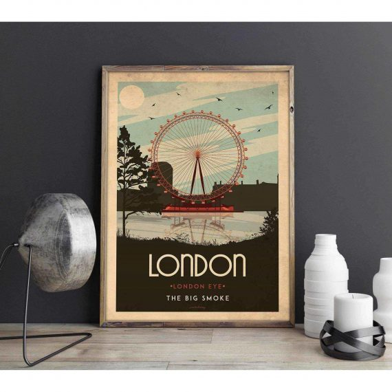 Art deco – London – World collection poster – 30×40