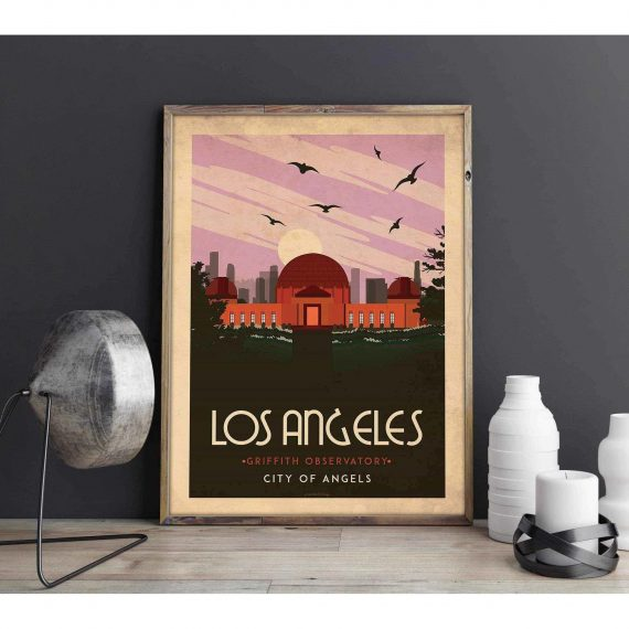 Art deco – Los Angeles – World collection poster – 30×40