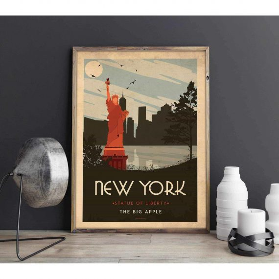 Art deco – New York – World collection poster – 60×90