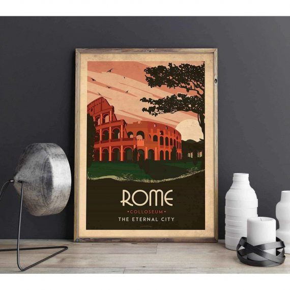 Art deco – Rome – World collection poster – 30×40