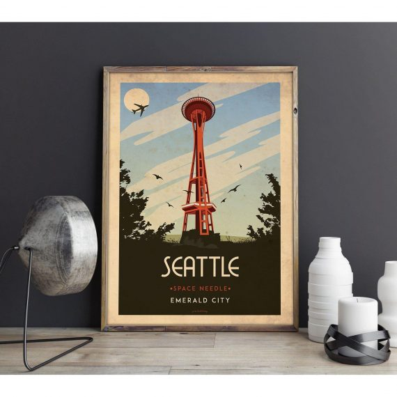 Art deco – Seattle – World collection poster – A4