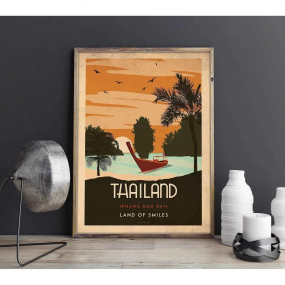 Art deco – Thailand – World collection poster – 30×40