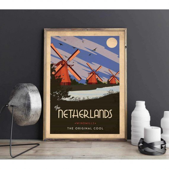 Art deco – The Netherlands – World collection poster – 40×50