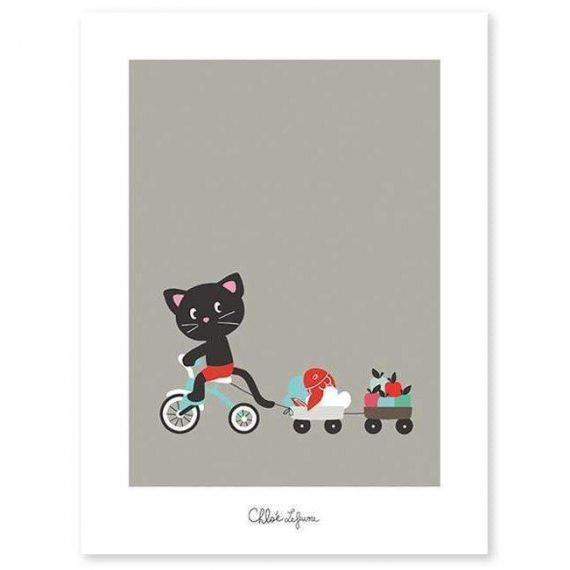 Bicycle Ride Poster – 30×40 cm