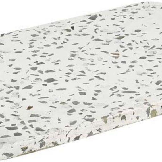 Blomus Omeo Bricka Vit Terrazzo 30 X 15 cm