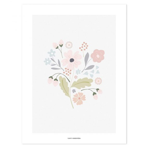 Bloom Bouquet With Stems Poster – 30×40 cm