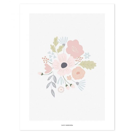 Bloom Rounded Bouquet Poster – 30×40 cm