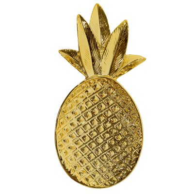 Bricka Ananas Bloomingville 9×19 cm, Guld