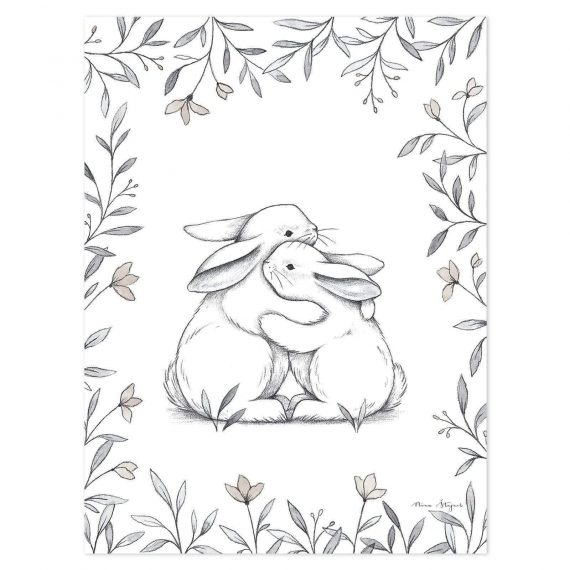 Bunny Loves You Poster – 30×40 cm