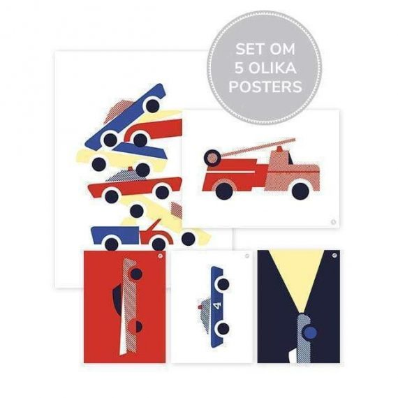 Cars Posters – Set Om 5