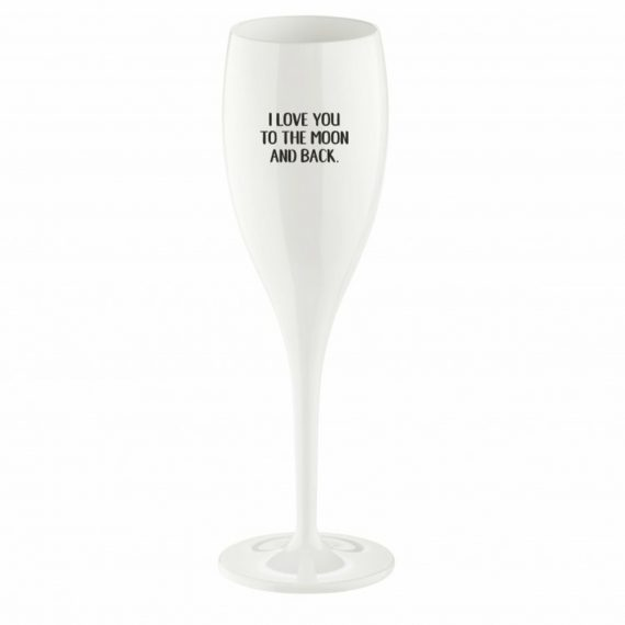 """Champagneglas Med Print 6-pack """"Love You To The Moon"""""""