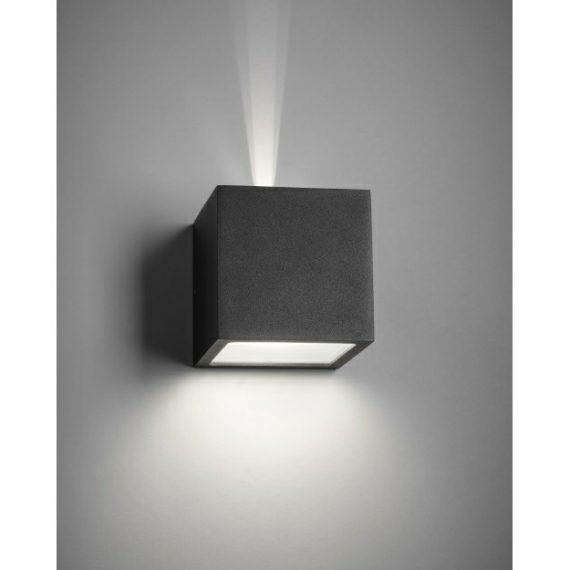 Cube XL Utomhus Vägglampa m/Stråle Svart – LIGHT-POINT