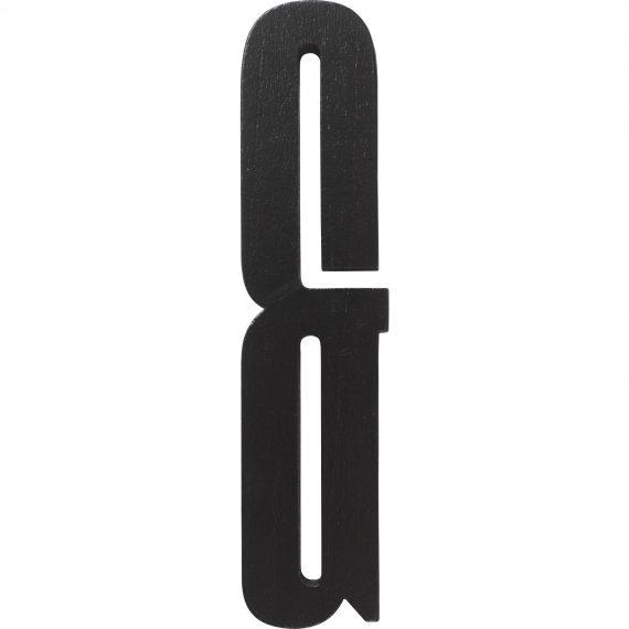 Design Letters Svart Bokstav i Trä, &