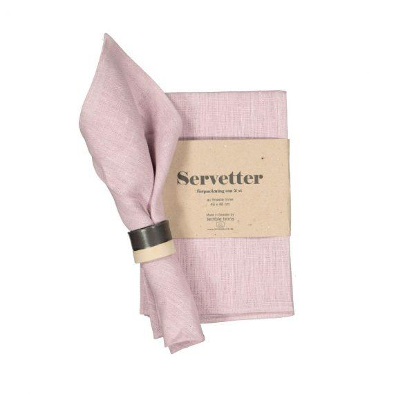 Designtorget Servett Grovlinne 2-p Rosa