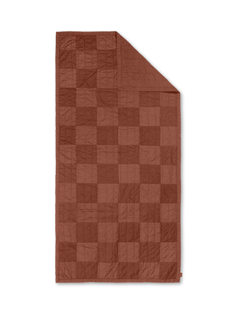 Duo Quilted Pläd Red Brown Tonal