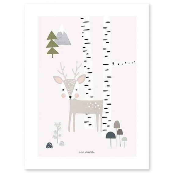 Fawn Poster – 30×40 cm