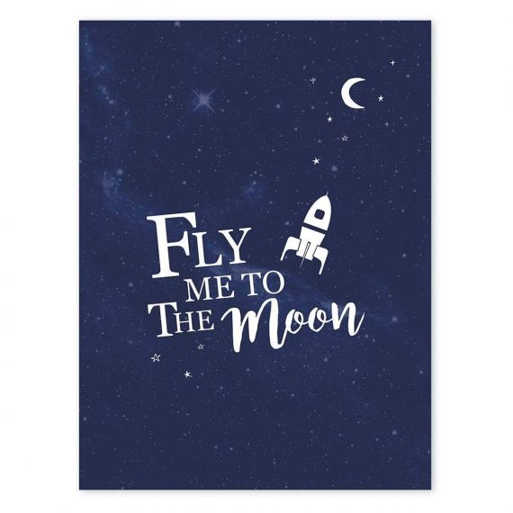 Fly Me To The Moon Poster – 30×40 cm