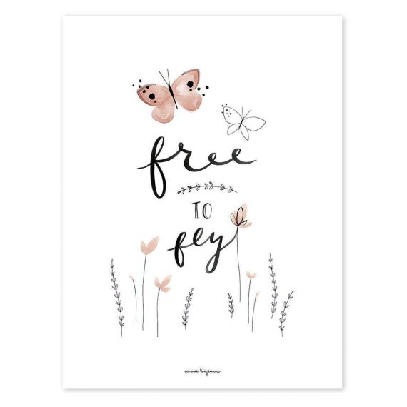 Free To Fly Poster – 30×40 cm