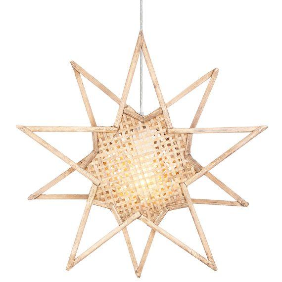 Globen Lighting Julstjärna Karin Natur 45cm