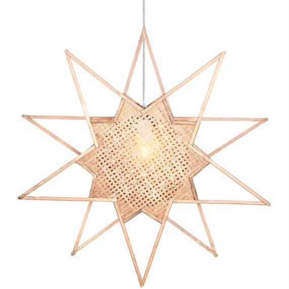 Globen Lighting Julstjärna Karin Natur 70 cm