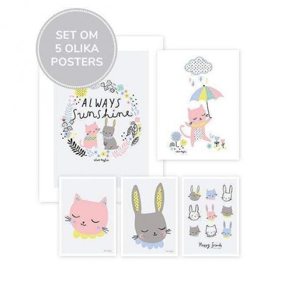 Happy Clouds Posters – Set Om 5