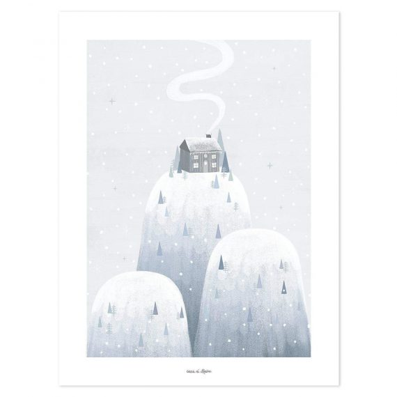 In The Mountain Poster – 30×40 cm
