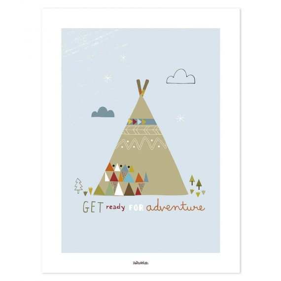 Indian Teepee Poster – 30×40 cm