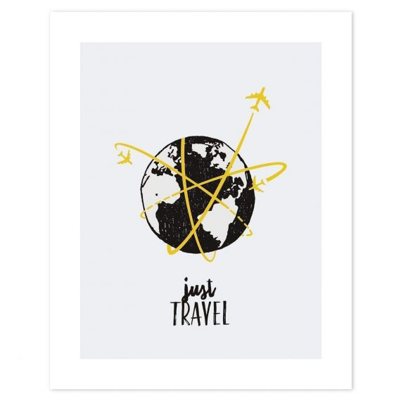 Just Travel Poster – 40×50 cm