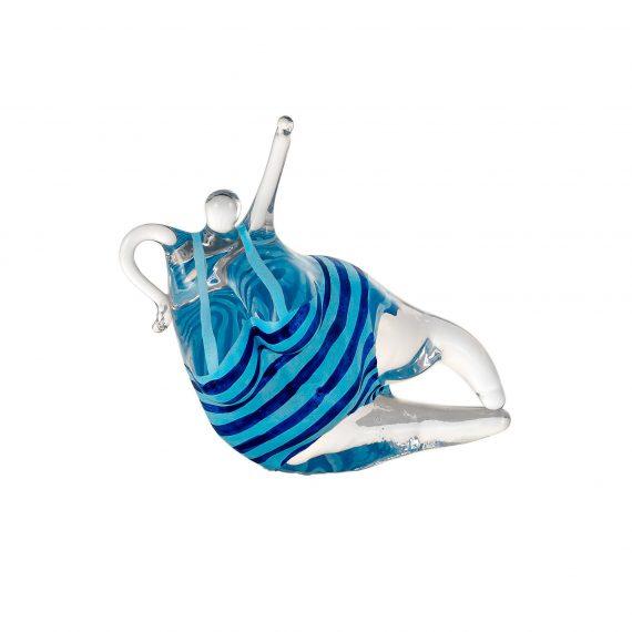 Kosta Boda Badlycka skulptur, blå