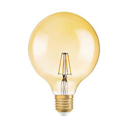 LED-lampa Globe 34 E27 Filament Gold