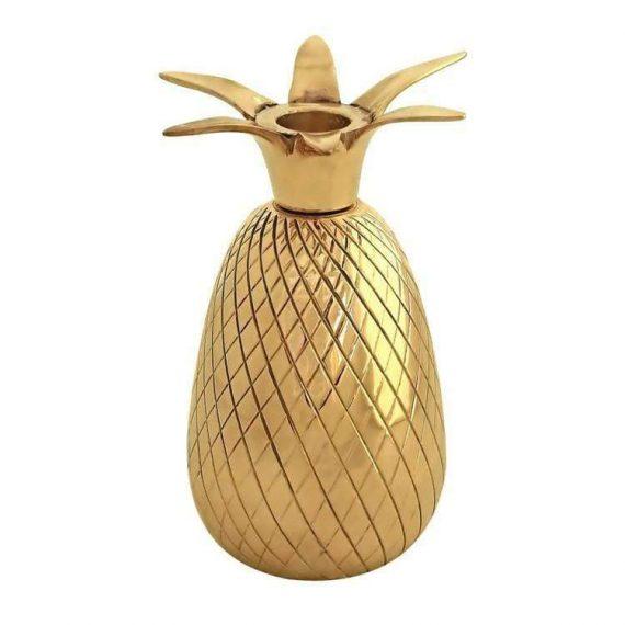 Ljusstake ananas i mässing
