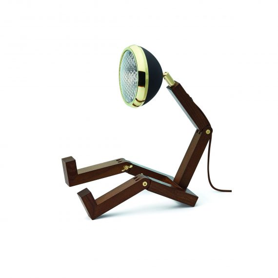 MR WATTSON Lampa / Bordslampa – Mässing / Matt Svart