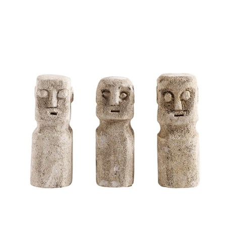 MUUBS Skulptur Head 3 st Sand Stone 15 cm