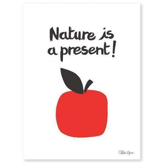 Nature Is A Present – Apples Poster – 30×40 cm