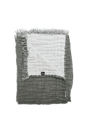 Pläd Hannelin charcoal/white 130×170