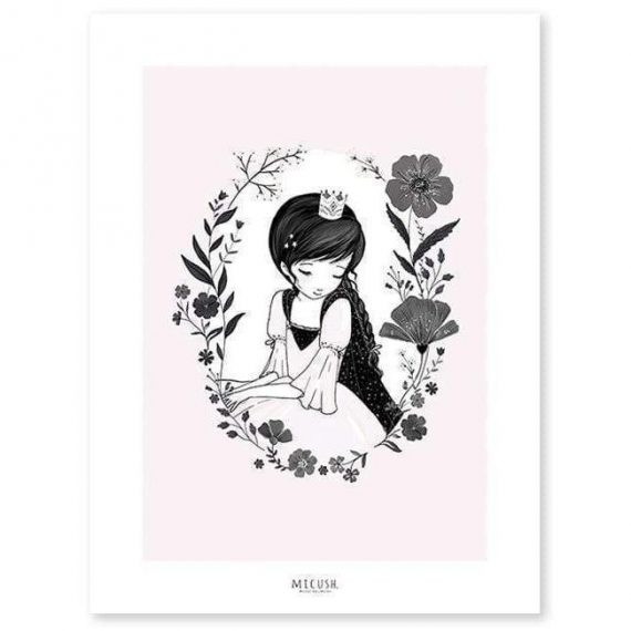 Princess And Flowers Poster – 30×40 cm