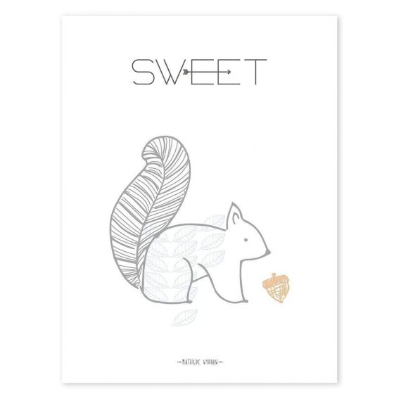 Squirrel Sweet Poster – 30×40 cm