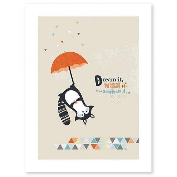 Think Positive Poster – 30×40 cm