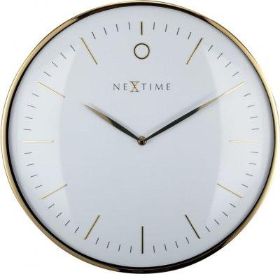 Väggklocka NeXtime Glamour ø40cm Guld/Vit